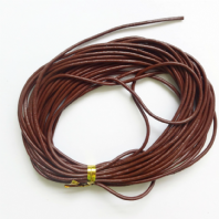 4M Brown Genuine Leather 2.5mm Round  Cords